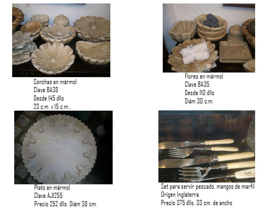 Conchas en mármol Clave BA38 Desde 145 dlls 23 c.m.