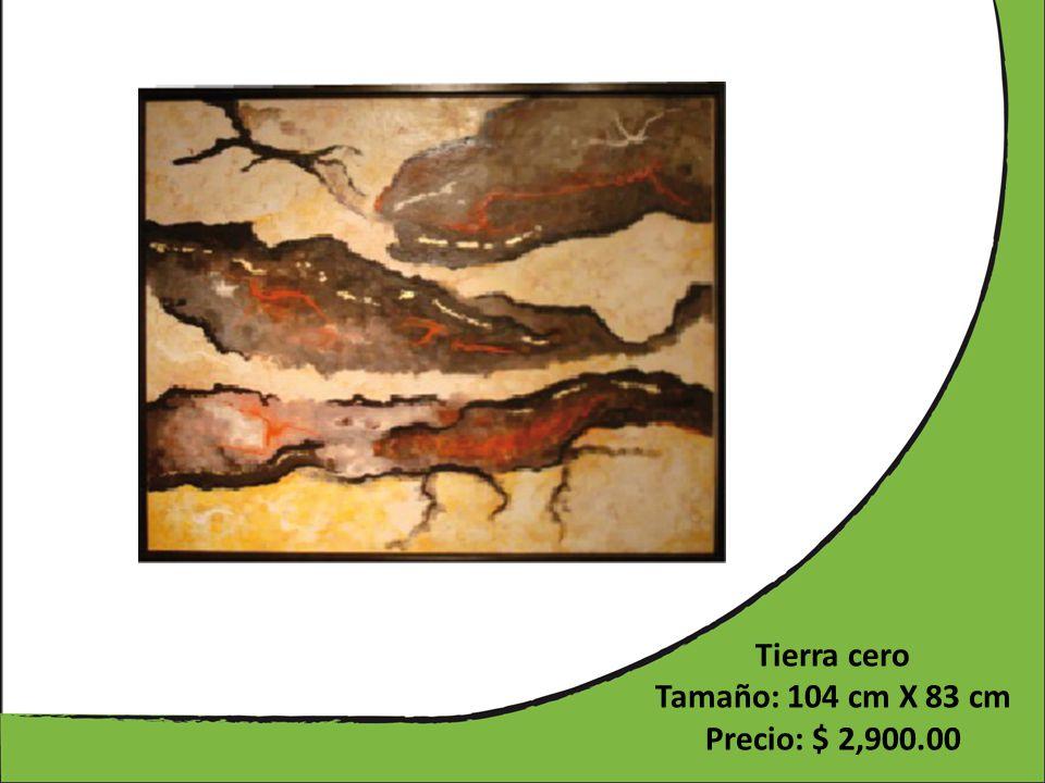 Tierra cero Tamaño: 104 cm X 83 cm Precio: $ 2,900.00