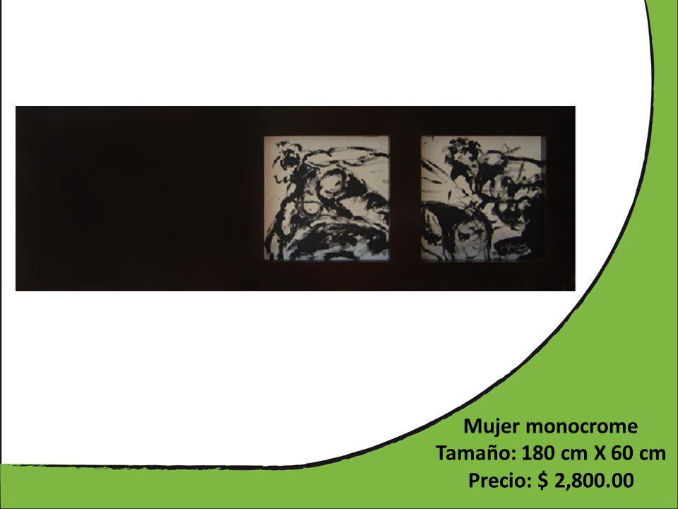 Mujer monocrome Tamaño: 180 cm X 60 cm Precio: $ 2,800.00