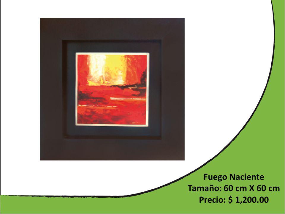 Fuego Naciente Tamaño: 60 cm X 60 cm Precio: $ 1,200.00