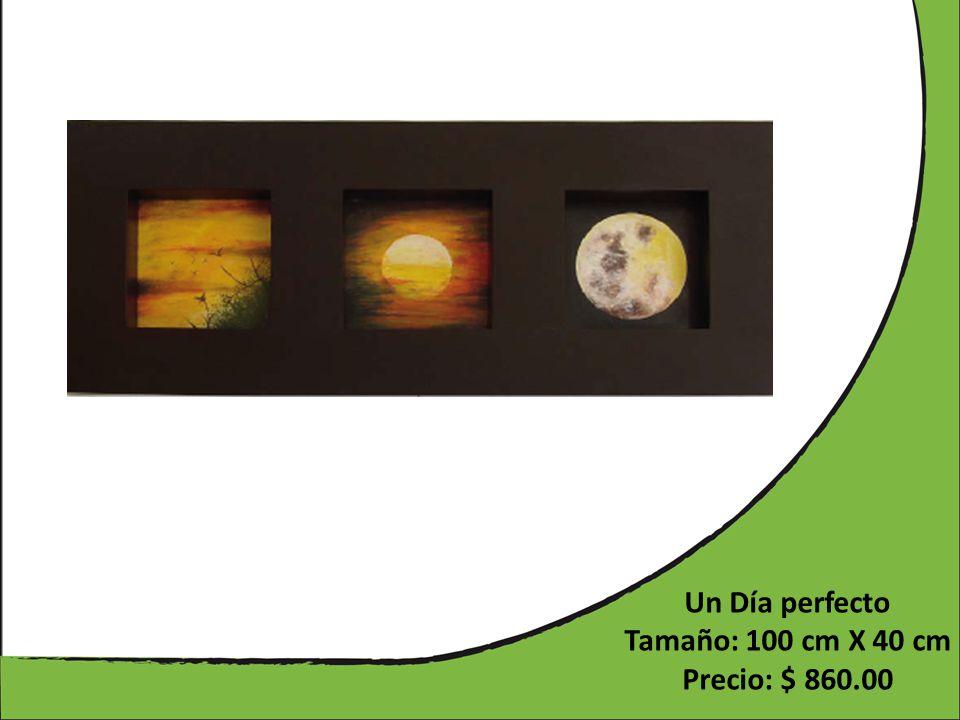 Un Día perfecto Tamaño: 100 cm X 40 cm Precio: $ 860.00