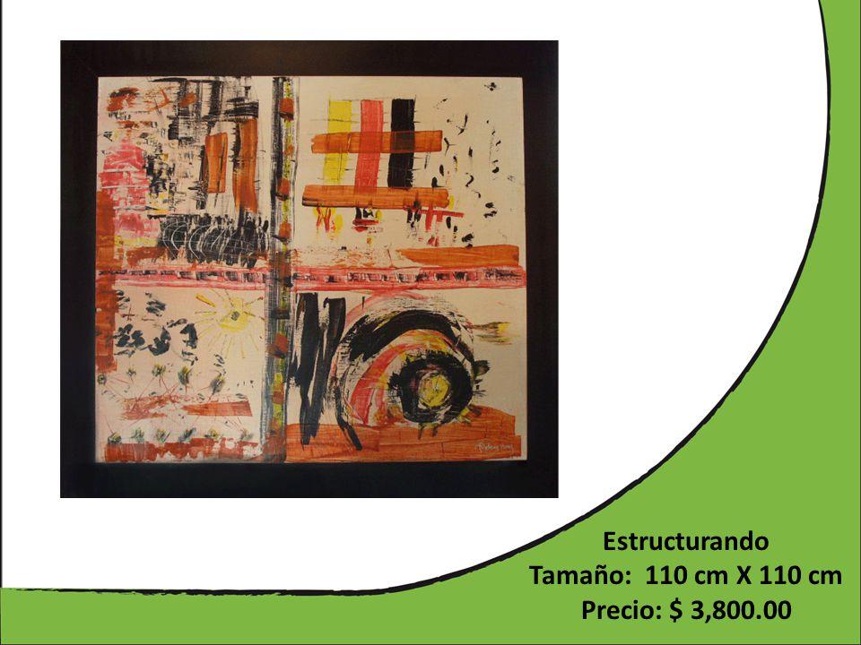 Estructurando Tamaño: 110 cm X 110 cm Precio: $ 3,800.00