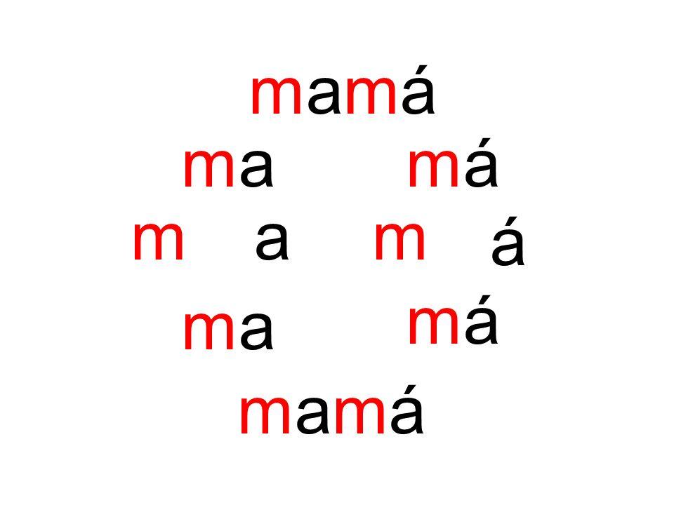 mamá mamá m a m á ma má mamá