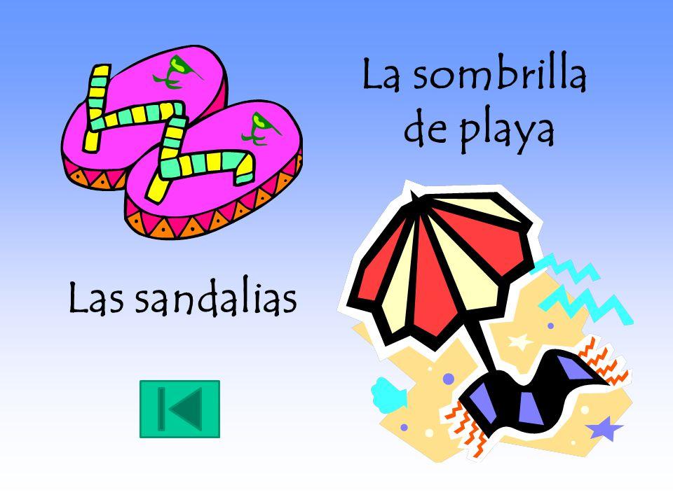 Las sandalias La sombrilla de playa