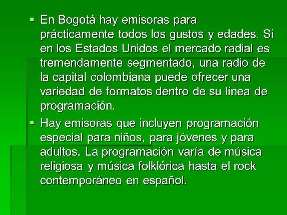 Formatos Musicales en la Radio Bogotana Por Henrik Klemetz  Esta historia fue publicada originalmente en la revista Radio World Internacional el 15 de mayo de 1996.