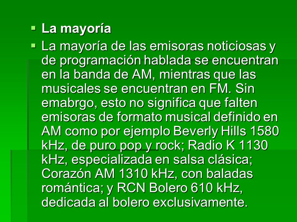  En Bogotá hay emisoras para prácticamente todos los gustos y edades.