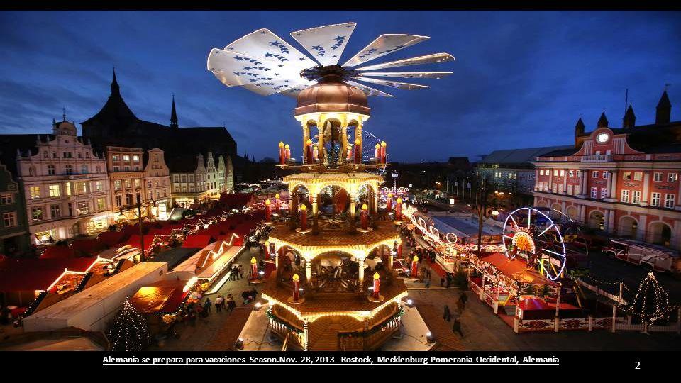 Aparecen las luces de Navidad en las calles y aceras de las ciudades de Bruselas (Bélgica) 1 11-12-2013