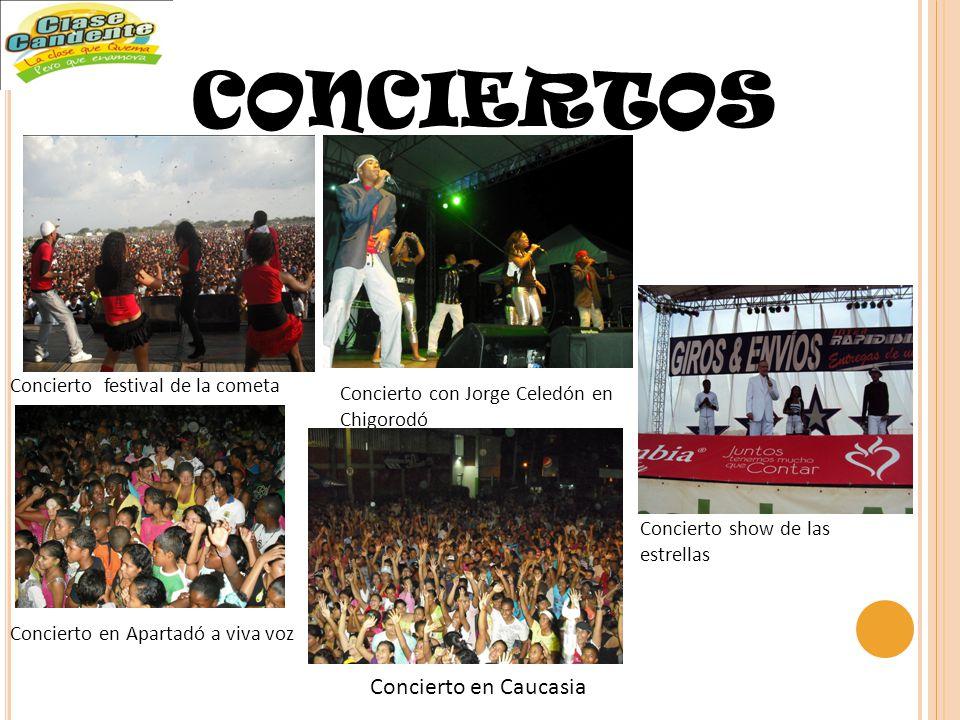 CONCIERTOS Concierto festival de la cometa Concierto con Jorge Celedón en Chigorodó Concierto en Apartadó a viva voz Concierto en Caucasia Concierto show de las estrellas