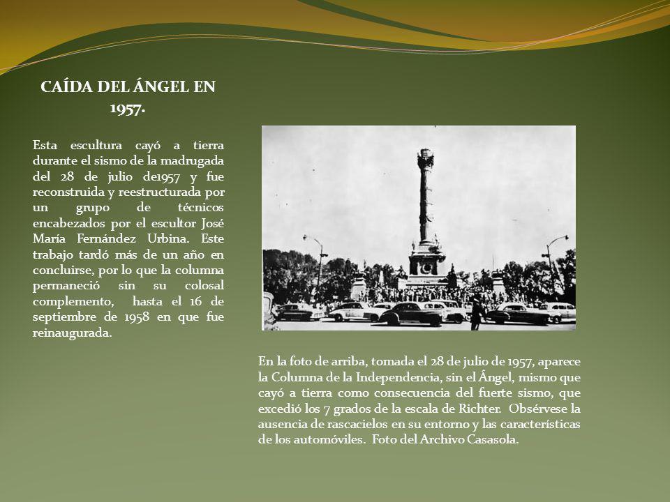 CAÍDA DEL ÁNGEL EN 1957.