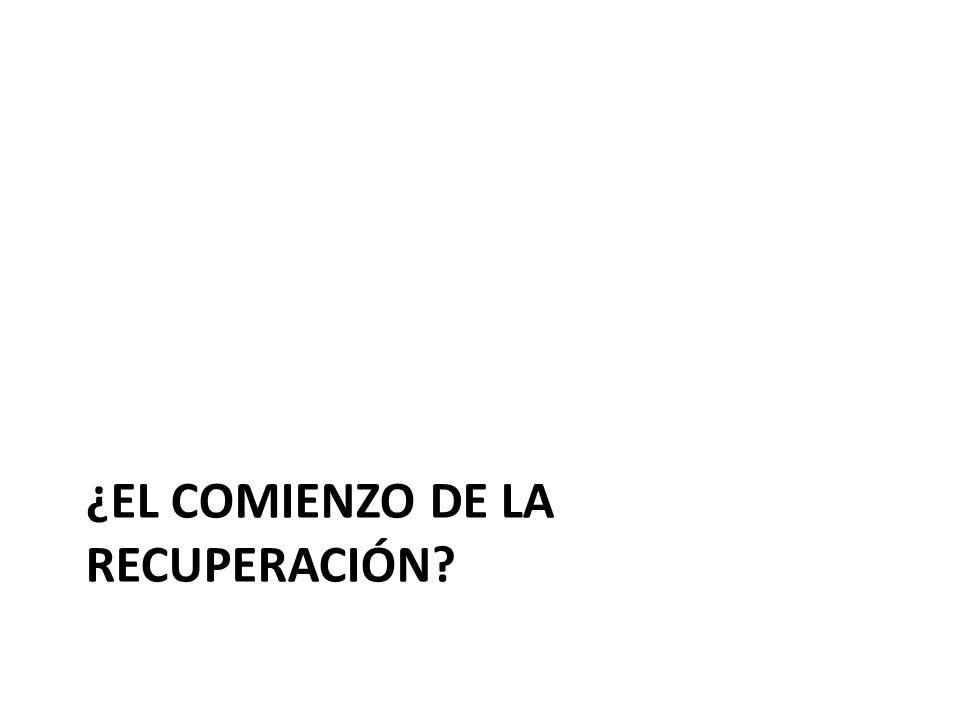 ¿EL COMIENZO DE LA RECUPERACIÓN