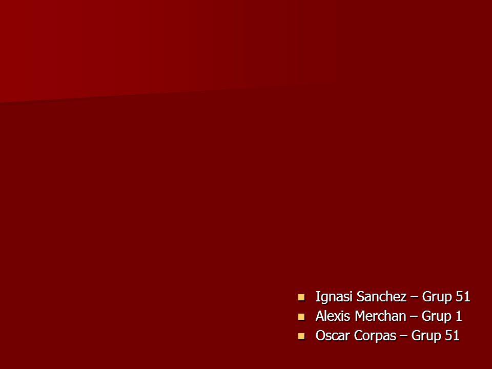 Ignasi Sanchez – Grup 51 Ignasi Sanchez – Grup 51 Alexis Merchan – Grup 1 Alexis Merchan – Grup 1 Oscar Corpas – Grup 51 Oscar Corpas – Grup 51