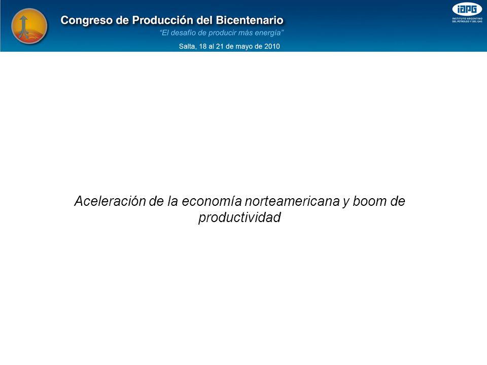 Aceleración de la economía norteamericana y boom de productividad