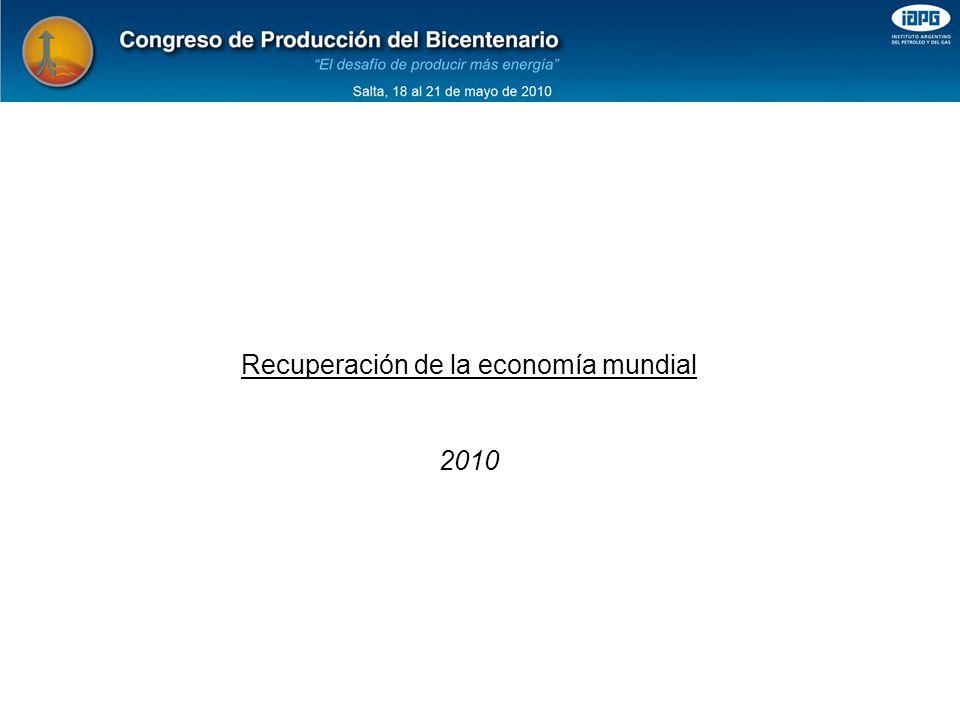 Recuperación de la economía mundial 2010