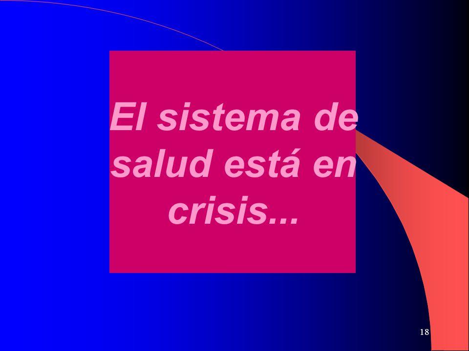18 El sistema de salud está en crisis...
