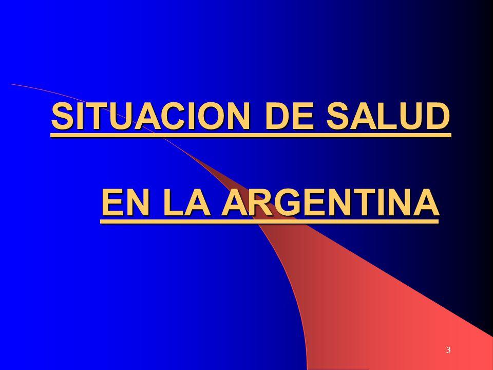 3 SITUACION DE SALUD EN LA ARGENTINA