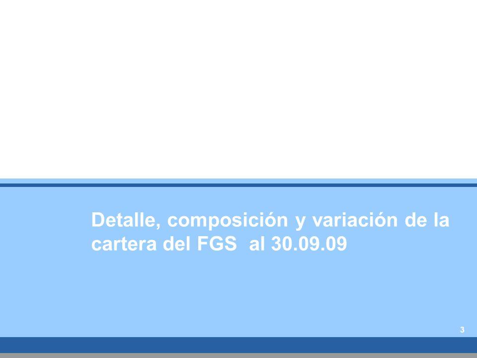 Detalle, composición y variación de la cartera del FGS al 30.09.09 3