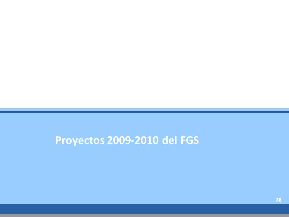 Proyectos 2009-2010 del FGS 38