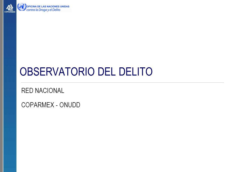OBSERVATORIO DEL DELITO RED NACIONAL COPARMEX - ONUDD