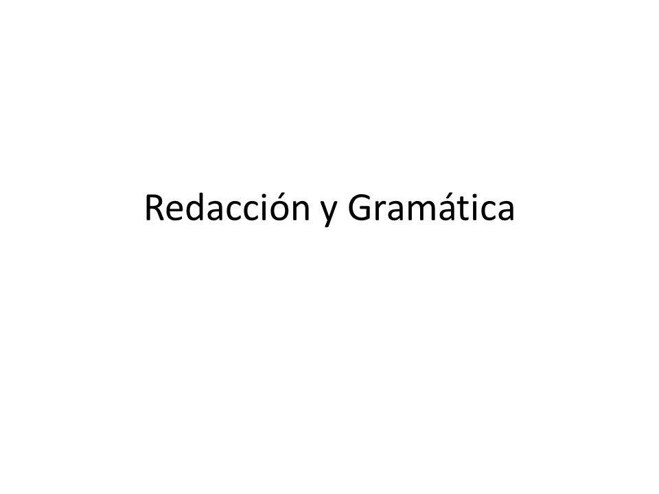 Redacción y Gramática