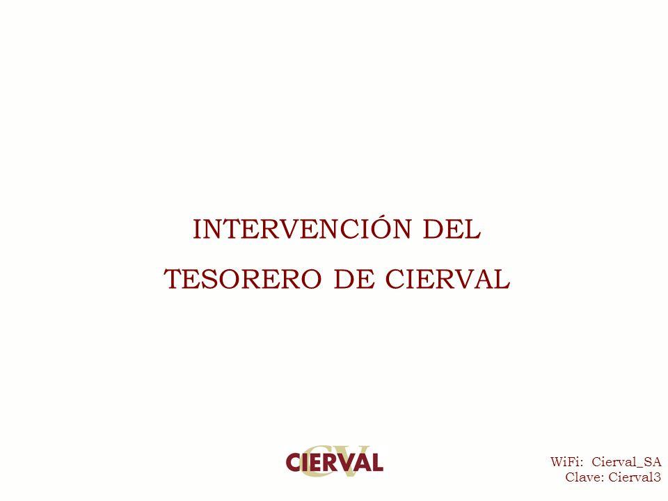 WiFi: Cierval_SA Clave: Cierval3 INTERVENCIÓN DEL TESORERO DE CIERVAL