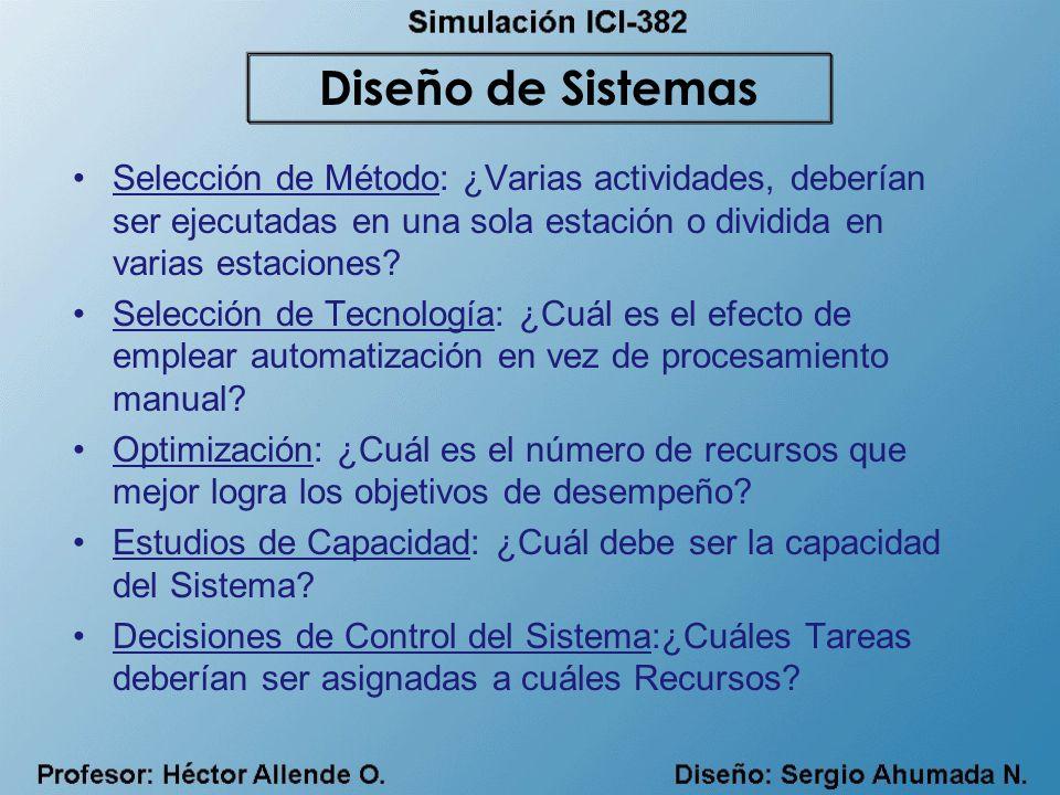 Selección de Método: ¿Varias actividades, deberían ser ejecutadas en una sola estación o dividida en varias estaciones.