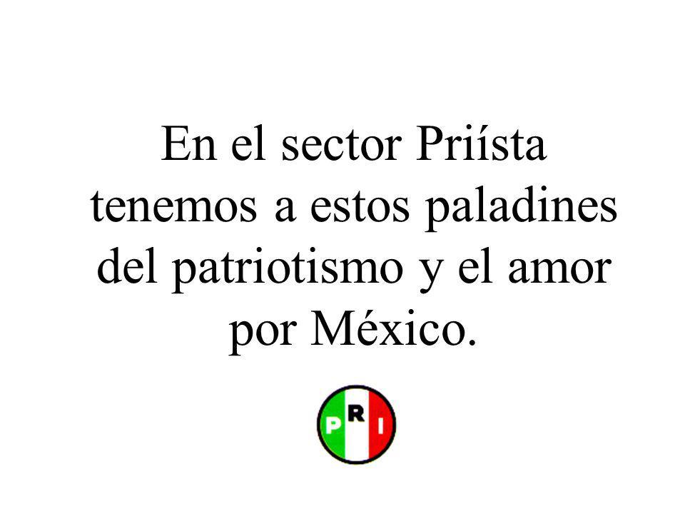 En el sector Priísta tenemos a estos paladines del patriotismo y el amor por México.