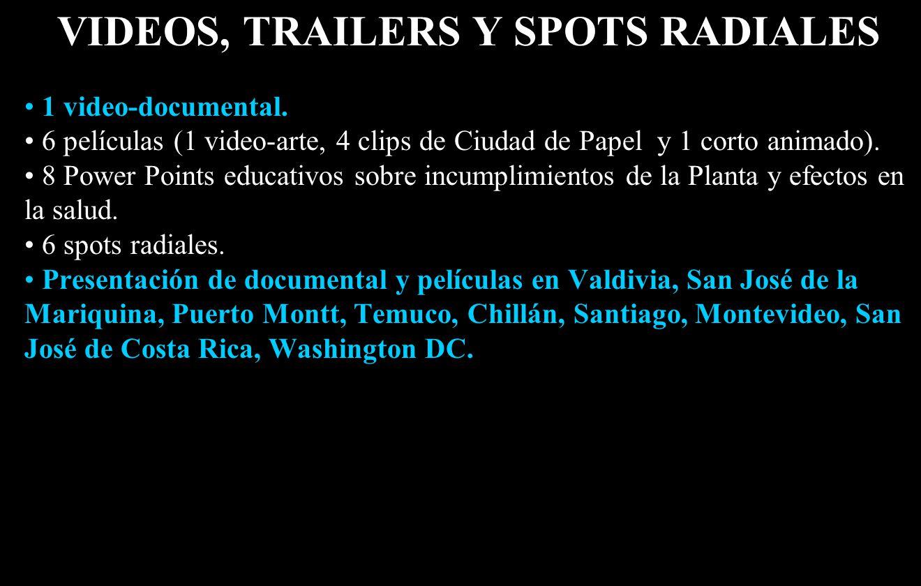 VIDEOS, TRAILERS Y SPOTS RADIALES 1 video-documental.
