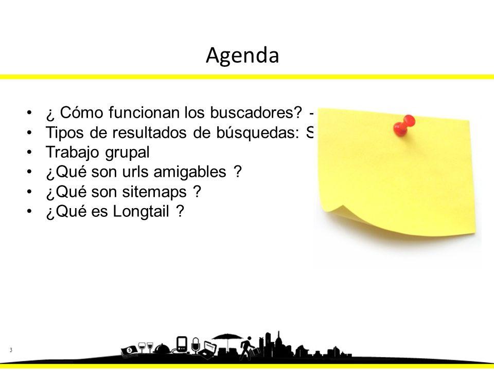 33 Agenda ¿ Cómo funcionan los buscadores.