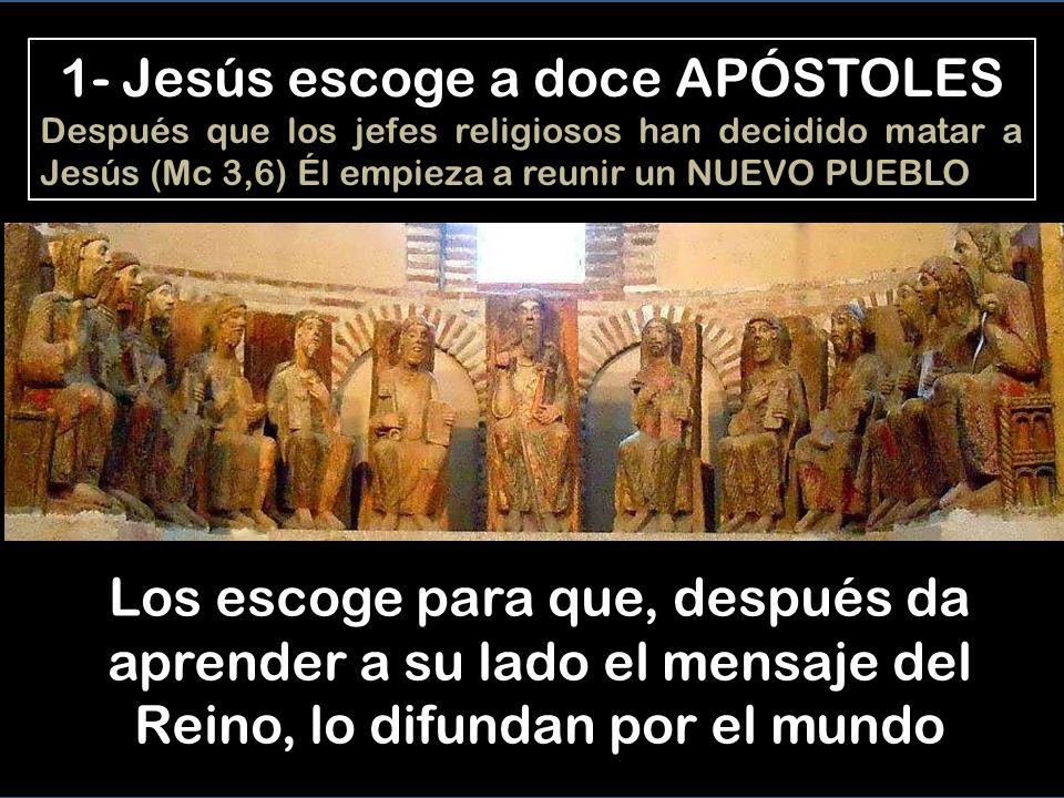 JESÚS FORMA UN PUEBLO NUEVO Mc 3,13 a 6,6 1- 3:13-19 Y subió al monte, llamó a los que Él quiso, y ellos vinieron a Él.