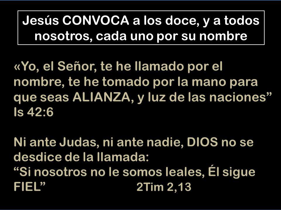 Jesús es el CENTRO del nuevo GRUPO Él no quiere actuar solo, sino compartir con los SENZILLOS, el Reino que trae de parte de Dios Jesús llama a los que quiere, para ser sus AMIGOS La mirada fija en Jesús