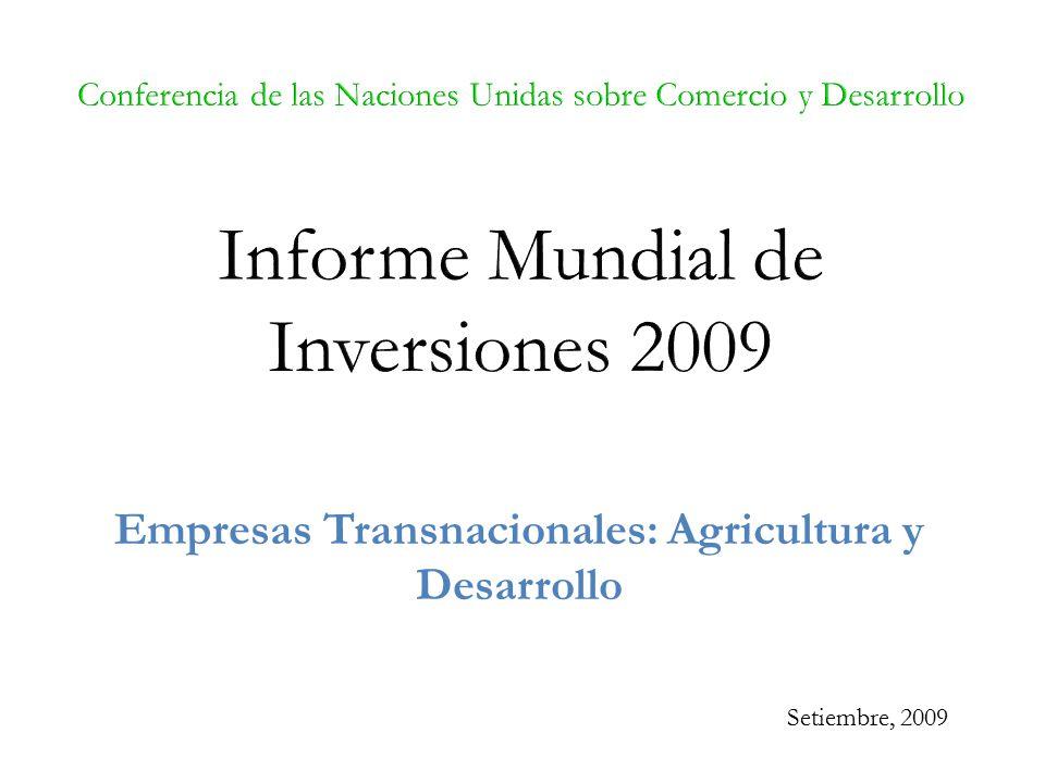 Empresas Transnacionales: Agricultura y Desarrollo Setiembre, 2009