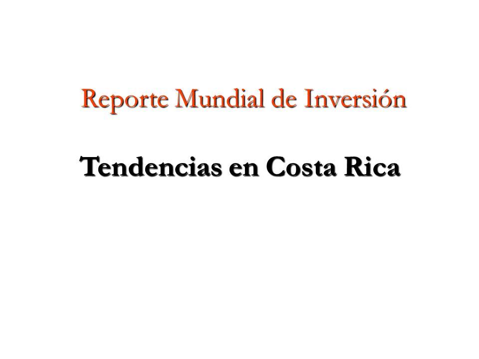 Reporte Mundial de Inversión Tendencias en Costa Rica