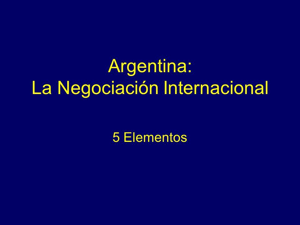 Argentina: La Negociación Internacional 5 Elementos