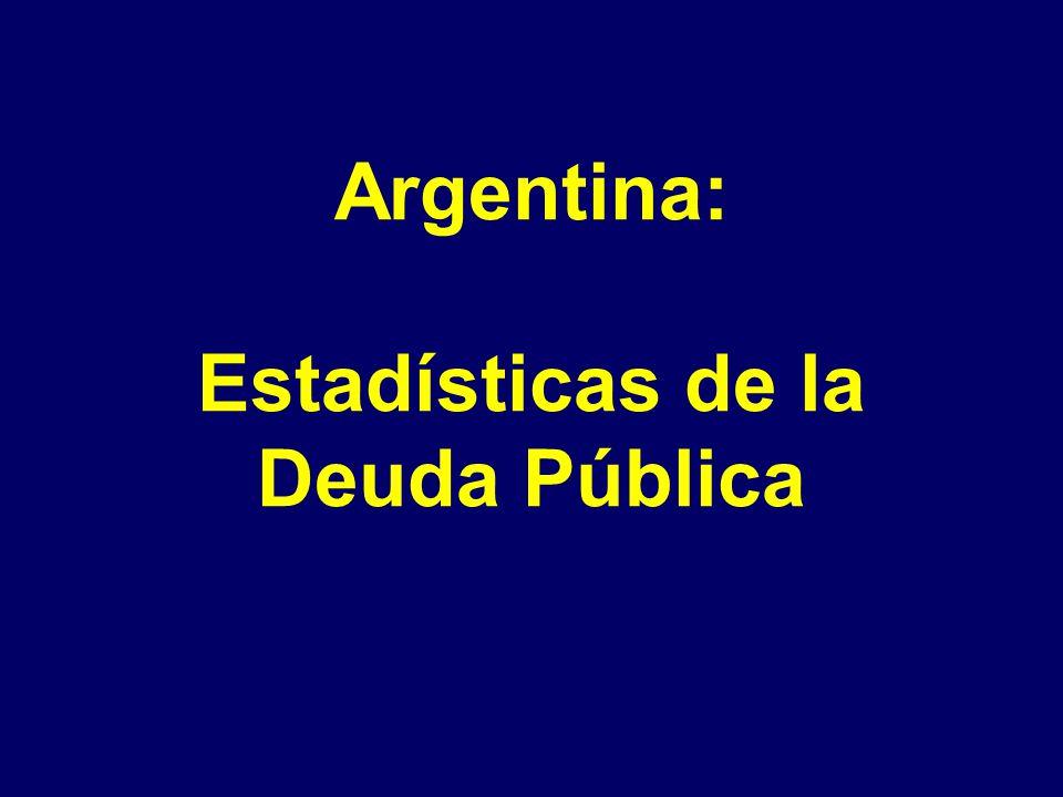 Argentina: Estadísticas de la Deuda Pública