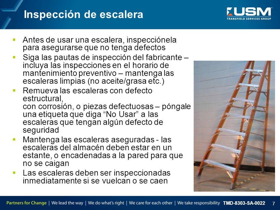 TMD-8303-SA-0022 8 Resumen de puntos claves La meta de USM es no utilizar escaleras.