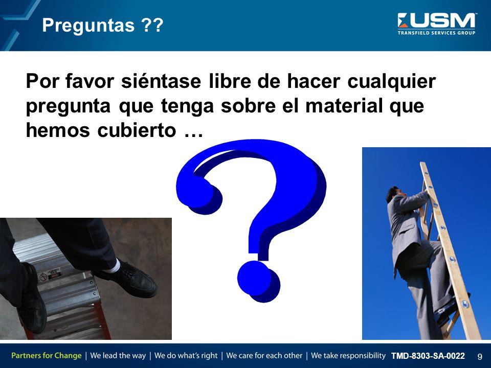 TMD-8303-SA-0022 9 Preguntas ?.