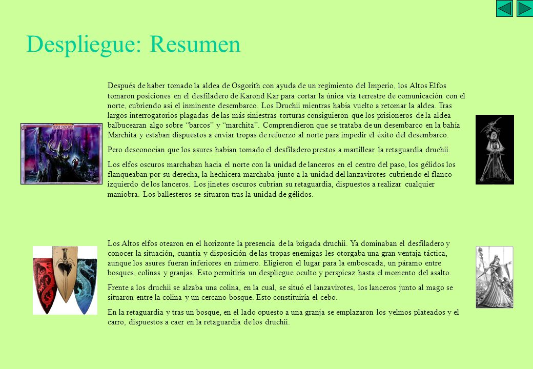 ELFOS OSCUROS (juanma):1000 pts 1 NOBLE ELFO OSCURO (sobre Gélido) 1 HECHICERA N2 (Báculo negro) 1 UD GUERREROS CON BALLESTAS (12 uds) 1 UD GUERREROS CON LANZAS (20 uds) 1 UD JINETES OSCUROS (Cab.