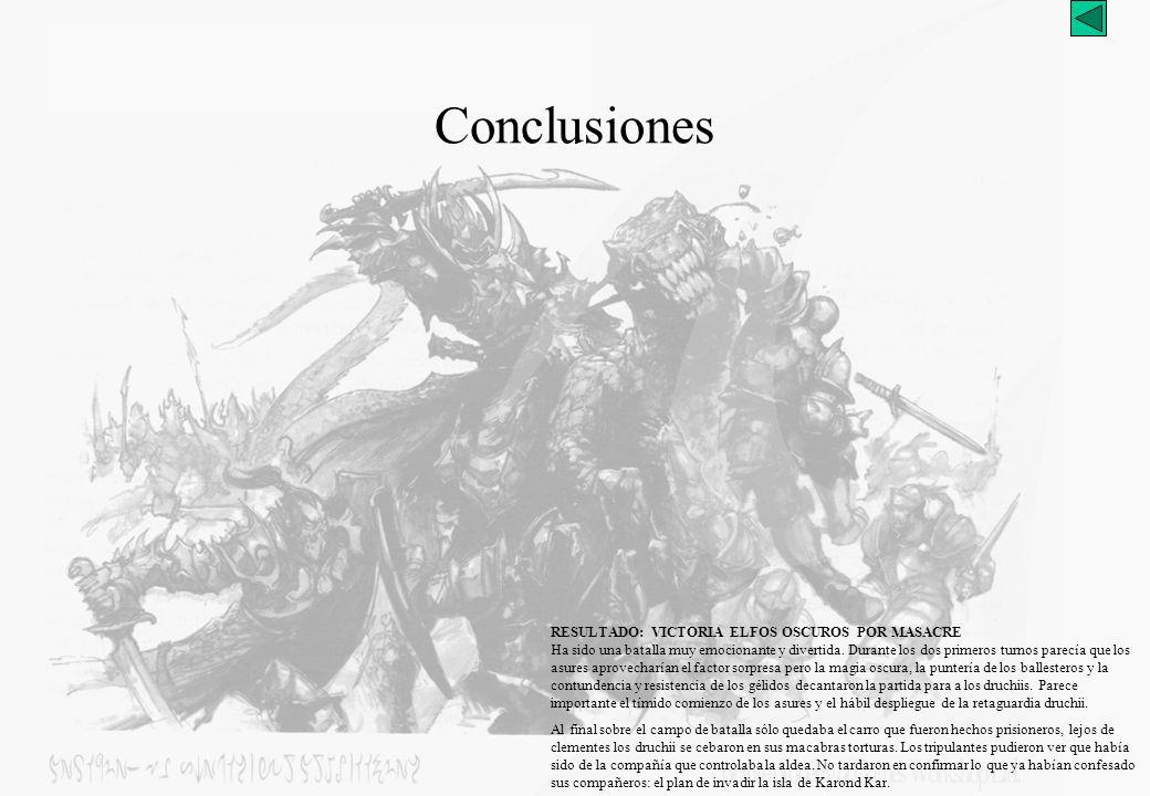 Carro de Tiranoc Guerreros con lanzas T4: AE-Movimiento Turno 4: Altos Elfos 1 Inicio del turno 2.