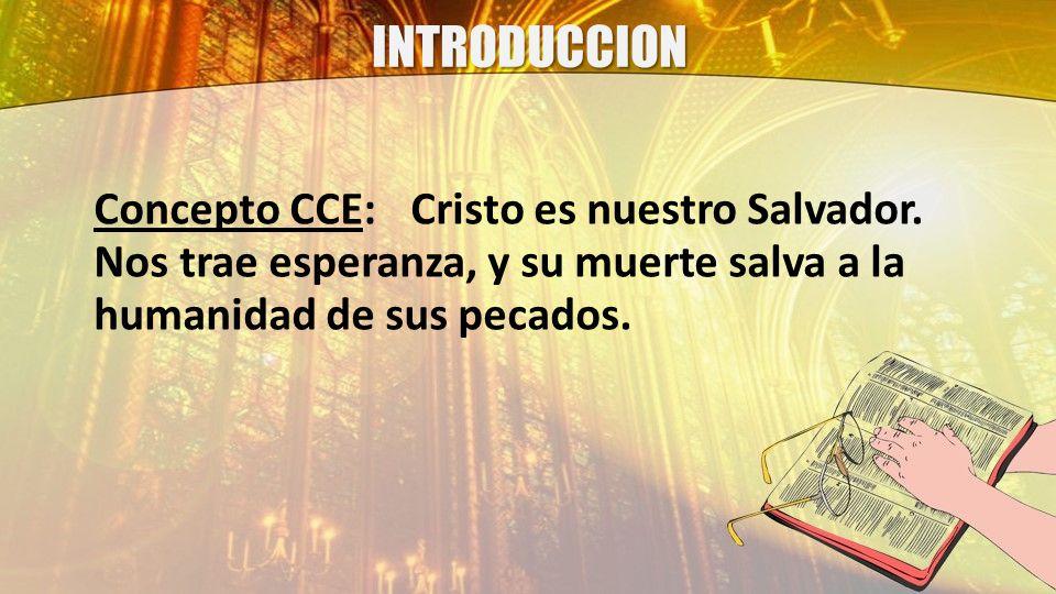 INTRODUCCION Concepto CCE:Cristo es nuestro Salvador.