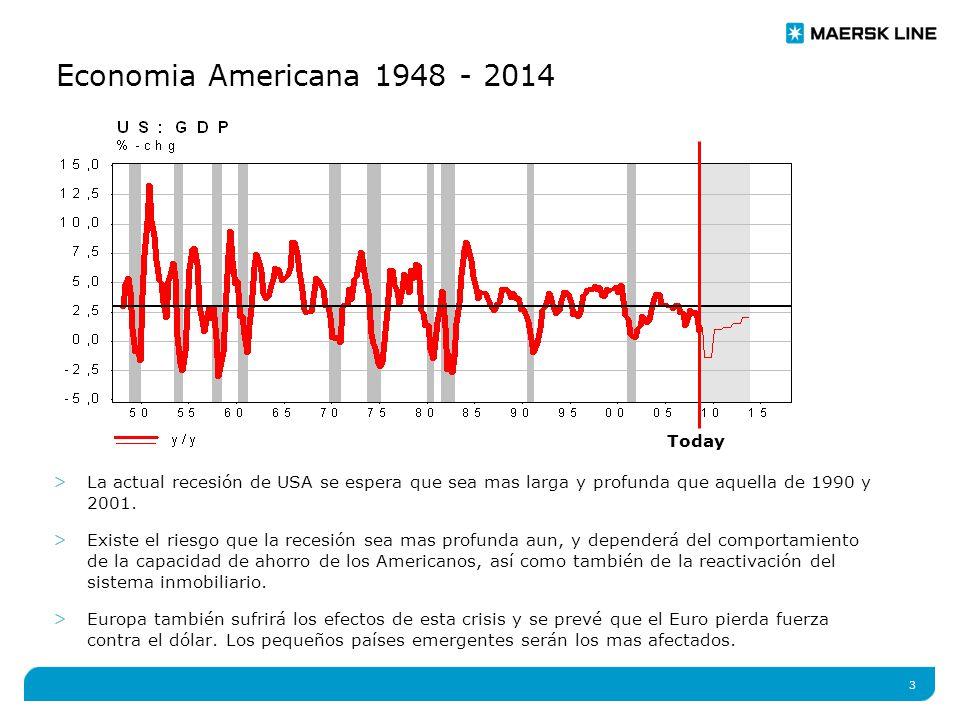 3 Economia Americana 1948 - 2014 >La actual recesión de USA se espera que sea mas larga y profunda que aquella de 1990 y 2001.