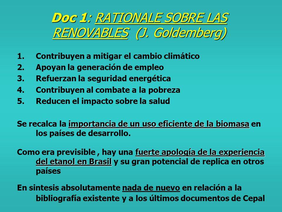 Eventos de preparación para Bonn Africa -Documento draft Renewable in Africa : se trata de un documento absolutamente general y sin ningun compromiso técnico o político.