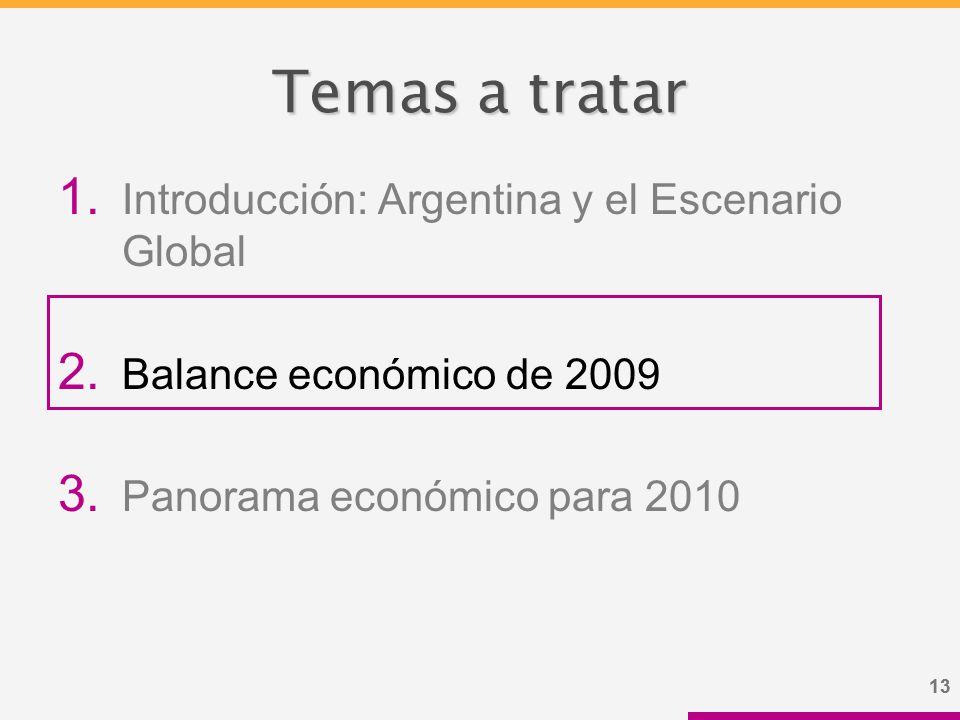 13 Temas a tratar 1. Introducción: Argentina y el Escenario Global 2.