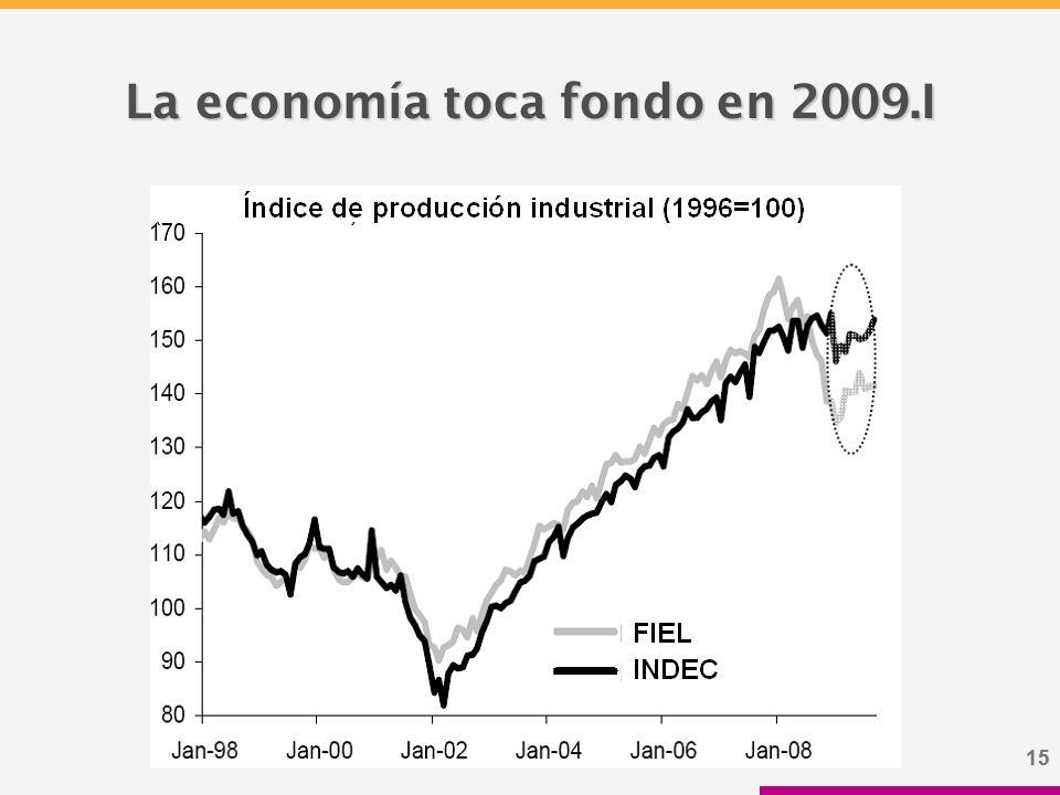 15 La economía toca fondo en 2009.I