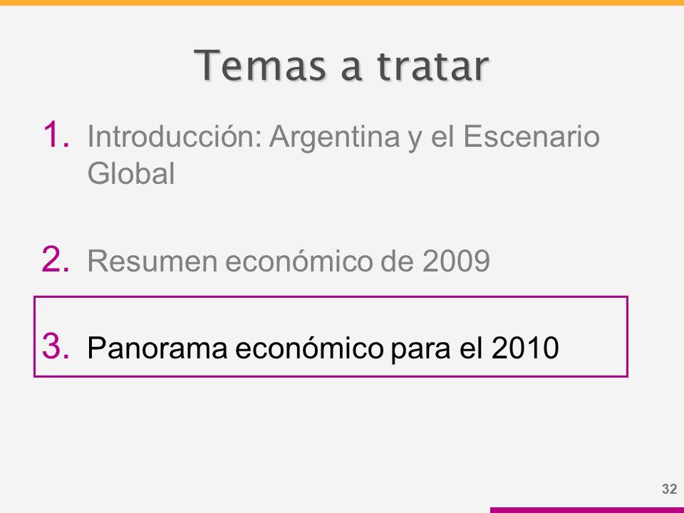 32 Temas a tratar 1. Introducción: Argentina y el Escenario Global 2.