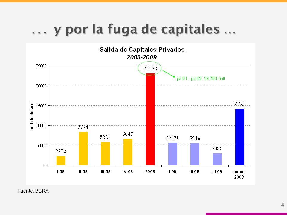 44 … y por la fuga de capitales … … y por la fuga de capitales … Fuente: BCRA