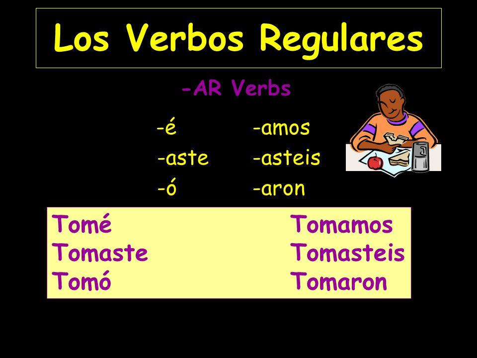 El Pretérito Los Verbos Regulares Los Verbos con Cambios Los Verbos Irregulares
