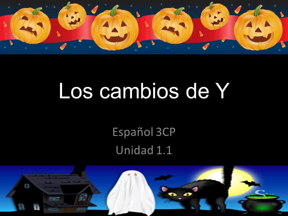 Los cambios de Y Español 3CP Unidad 1.1