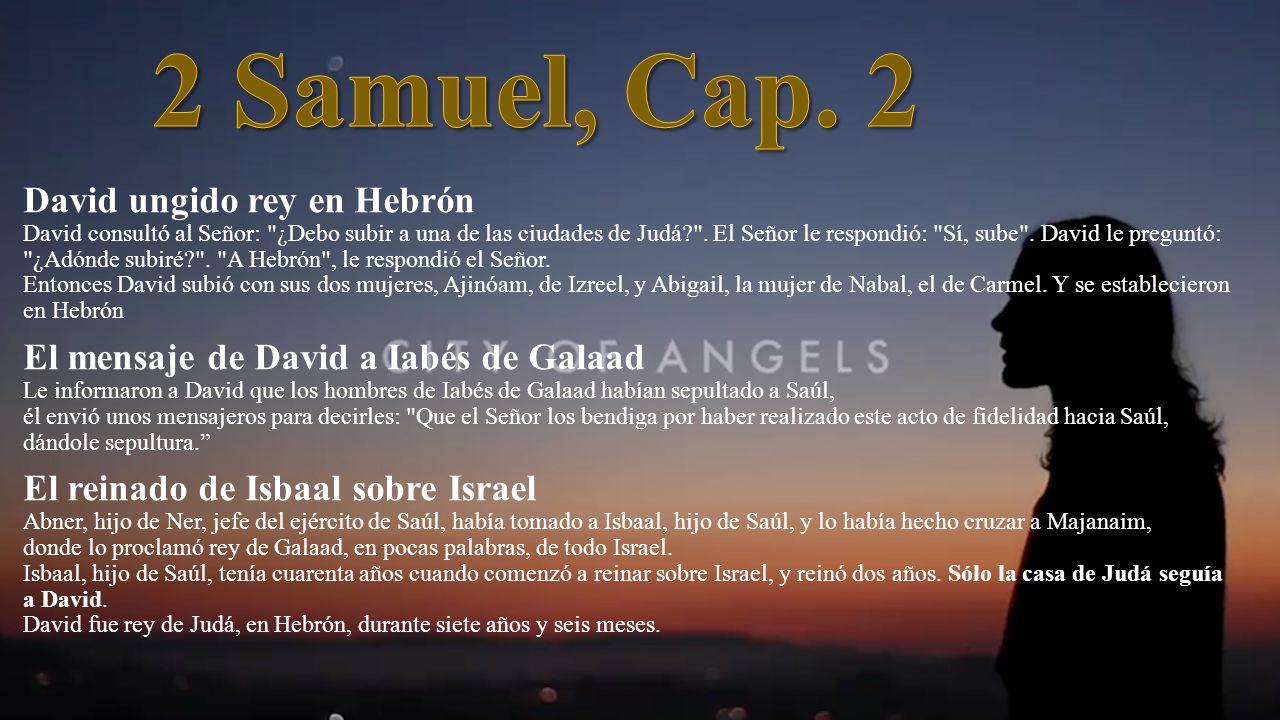 David ungido rey en Hebrón David consultó al Señor: ¿Debo subir a una de las ciudades de Judá .