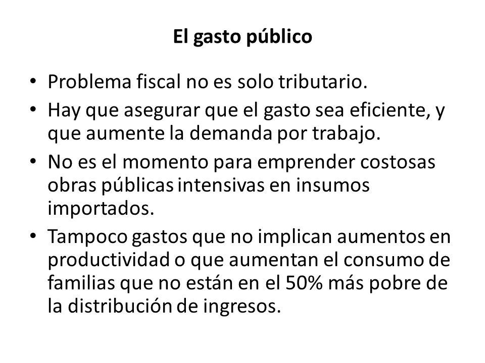El gasto público Problema fiscal no es solo tributario.