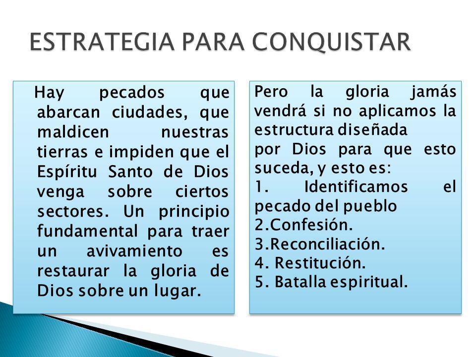 Hay pecados que abarcan ciudades, que maldicen nuestras tierras e impiden que el Espíritu Santo de Dios venga sobre ciertos sectores.